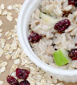 PAH-friendly recipe: oatmeal with almonds